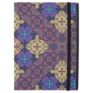 "Capa Para iPad Pro 12.9"" Ornamento de talavera do mosaico do vintage"