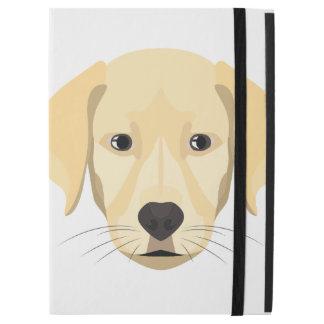 """Capa Para iPad Pro 12.9"""" Ouro Retriver do filhote de cachorro da ilustração"""