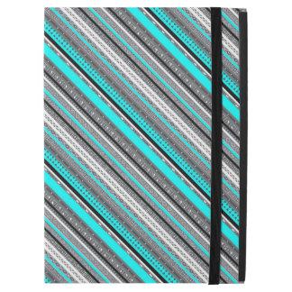 """Capa Para iPad Pro 12.9"""" Padrões cinzentos bonitos do asteca do aqua"""