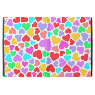 "Capa Para iPad Pro 12.9"" Padrões coloridos bonitos dos corações"