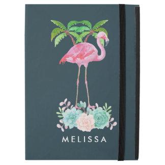 """Capa Para iPad Pro 12.9"""" Palmeiras cor-de-rosa do flamingo e Succulents"""