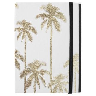 """Capa Para iPad Pro 12.9"""" Palmeiras tropicais do ouro glamoroso no branco"""