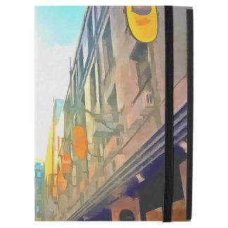 """Capa Para iPad Pro 12.9"""" Passagem entre construções coloridas"""
