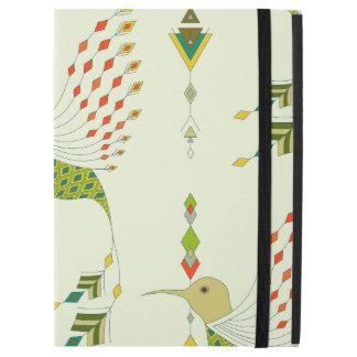 "Capa Para iPad Pro 12.9"" Pássaro asteca tribal étnico do vintage"