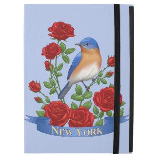 """Capa Para iPad Pro 12.9"""" Pássaro e flor de Estados de Nova Iorque"""