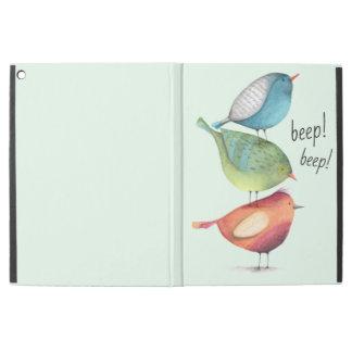 """Capa Para iPad Pro 12.9"""" Pássaros gordos bonitos que estão em se"""