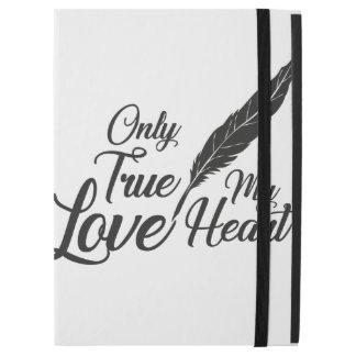 """Capa Para iPad Pro 12.9"""" Pena verdadeira do amor da ilustração"""