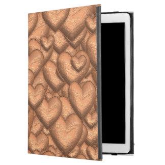 """Capa Para iPad Pro 12.9"""" Pêssego cintilante dos corações"""