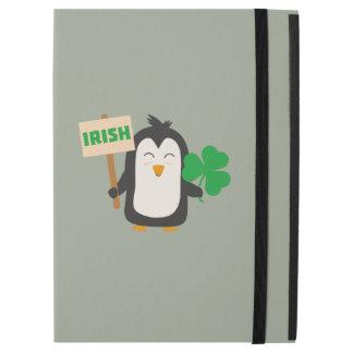 "Capa Para iPad Pro 12.9"" Pinguim irlandês com trevo Zjib4"
