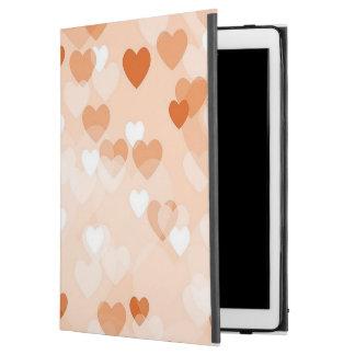 """Capa Para iPad Pro 12.9"""" Por todo o lado em corações, pêssego"""
