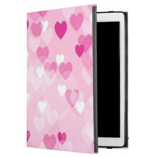 """Capa Para iPad Pro 12.9"""" Por todo o lado nos corações, cor-de-rosa"""
