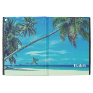 """Capa Para iPad Pro 12.9"""" Praia branca de Sandy com as palmas tropicais"""