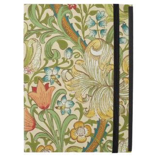 """Capa Para iPad Pro 12.9"""" Pre-Raphaelite dourado do vintage do lírio de"""