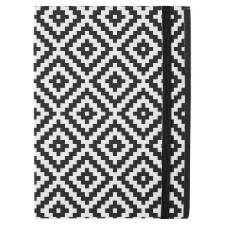 """Capa Para iPad Pro 12.9"""" Preto & branco astecas do teste padrão do bloco do"""