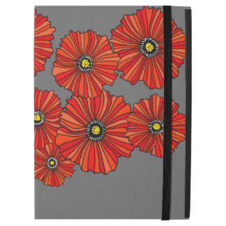 "Capa Para iPad Pro 12.9"" Pro 12,9"" cobrir do iPad floral vermelho do"