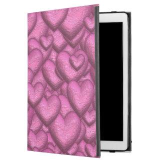 """Capa Para iPad Pro 12.9"""" Rosa cintilante dos corações"""