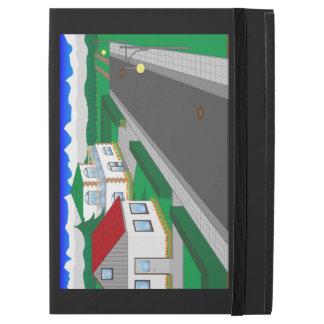 """Capa Para iPad Pro 12.9"""" Ruas e construção de casa"""