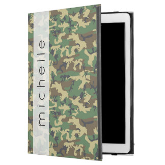 """Capa Para iPad Pro 12.9"""" Seu nome - teste padrão da camuflagem - amarelo de"""