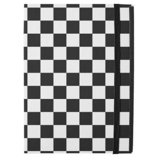 """Capa Para iPad Pro 12.9"""" Tabuleiro de damas preto e branco"""