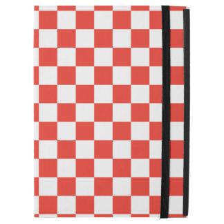"Capa Para iPad Pro 12.9"" Tabuleiro de damas vermelho"