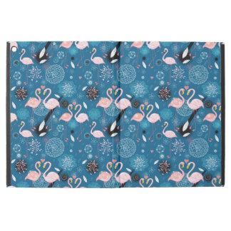 """Capa Para iPad Pro 12.9"""" Teste padrão bonito dos flamingos das flores"""