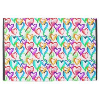 """Capa Para iPad Pro 12.9"""" Teste padrão colorido bonito dos corações da"""