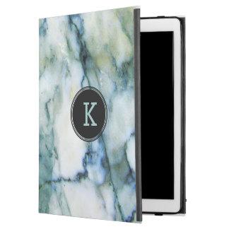 """Capa Para iPad Pro 12.9"""" Textura branca & azul esverdeado moderna do"""