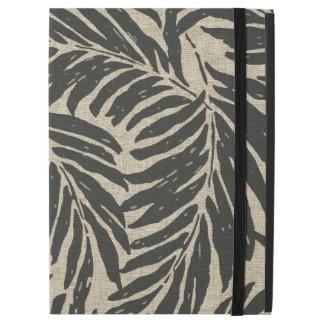"Capa Para iPad Pro 12.9"" Textura de linho havaiana das palmas de Kahanu"