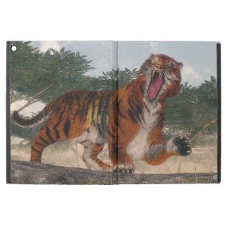 """Capa Para iPad Pro 12.9"""" Tigre que ruje - 3D rendem"""