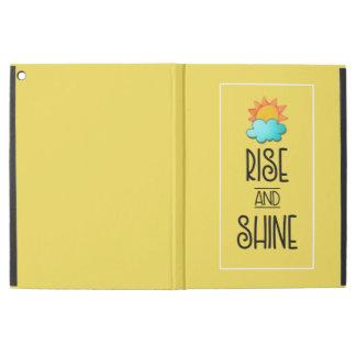 """Capa Para iPad Pro 12.9"""" Tipografia da elevação e do brilho com Sun e nuvem"""