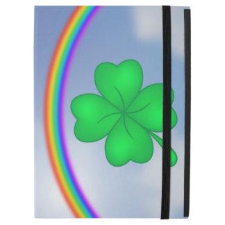 """Capa Para iPad Pro 12.9"""" Trevo De Quatro Folhas com arco-íris"""