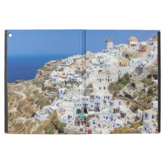 """Capa Para iPad Pro 12.9"""" Vila de Oia na ilha de Santorini, norte, piscina"""