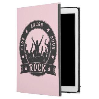 """Capa Para iPad Pro 12.9"""" Vive a ROCHA do amor do riso (o preto)"""