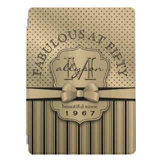 Capa Para iPad Pro 50th Arco das listras das bolinhas do ouro de