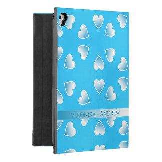 """Capa Para iPad Pro 9.7"""" Corações azuis pequenos bonito. Adicione seu"""