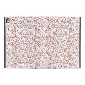 """Capa Para iPad Pro 9.7"""" Design floral branco cor-de-rosa bonito do vintage"""