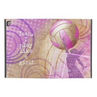 """Capa Para iPad Pro 9.7"""" Eu jogo como um voleibol das mulheres da menina"""