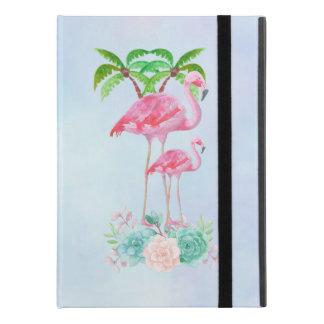 """Capa Para iPad Pro 9.7"""" Flamingo cor-de-rosa Momma & bebê com palmeiras"""