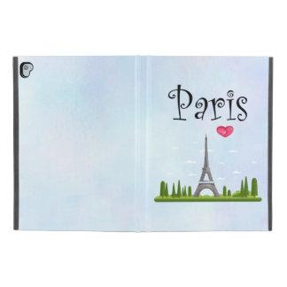 "Capa Para iPad Pro 9.7"" Francês Paris com torre Eiffel"