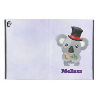 """Capa Para iPad Pro 9.7"""" Koala bonito em um costume preto do chapéu alto"""