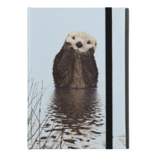 """Capa Para iPad Pro 9.7"""" Lontra bonito que está em uma lagoa que guardara"""