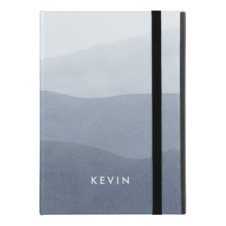 """Capa Para iPad Pro 9.7"""" Luz - inclinação tranquilo das aguarelas cinzentas"""