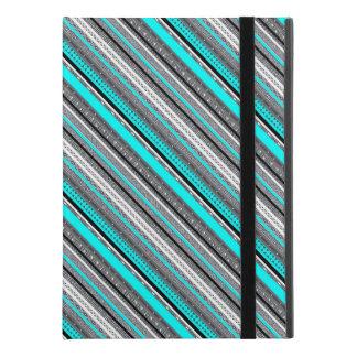 """Capa Para iPad Pro 9.7"""" Padrões cinzentos bonitos do asteca do aqua"""