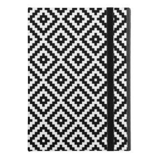 """Capa Para iPad Pro 9.7"""" Preto & branco astecas do teste padrão do bloco do"""