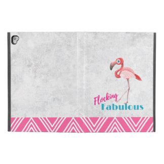 "Capa Para iPad Pro 9.7"" Reunindo a chalaça fabulosa com flamingo"