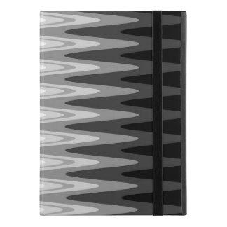 """Capa Para iPad Pro 9.7"""" Teste padrão cinzento branco preto do ziguezague"""
