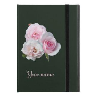 "Capa Para iPad Pro 9.7"" Três rosas cor-de-rosa. Adicione seu texto"