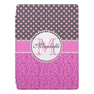 Capa Para iPad Pro Brilho cor-de-rosa e bolinhas cor-de-rosa nas