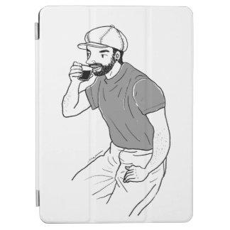 Capa Para iPad Pro Café do bebendo do homem em uma cafetaria