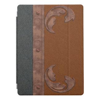 Capa Para iPad Pro Caso do iPad do olhar do couro & do cobre pro